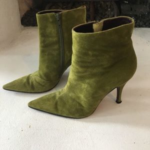Via Spiga suede leather heeled ankle boots